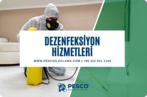 Pesco'un dezenfeksiyon hizmetlerine ilişkin bilgilendirme yazısıdır.