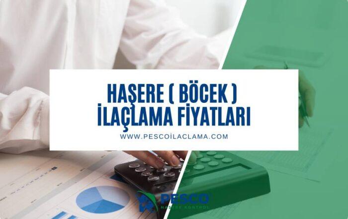 Pesco ilaclama firmasının hasere ve bocek ilaclama fiyatlarına ilişkin bilgilendirme yazısıdır.